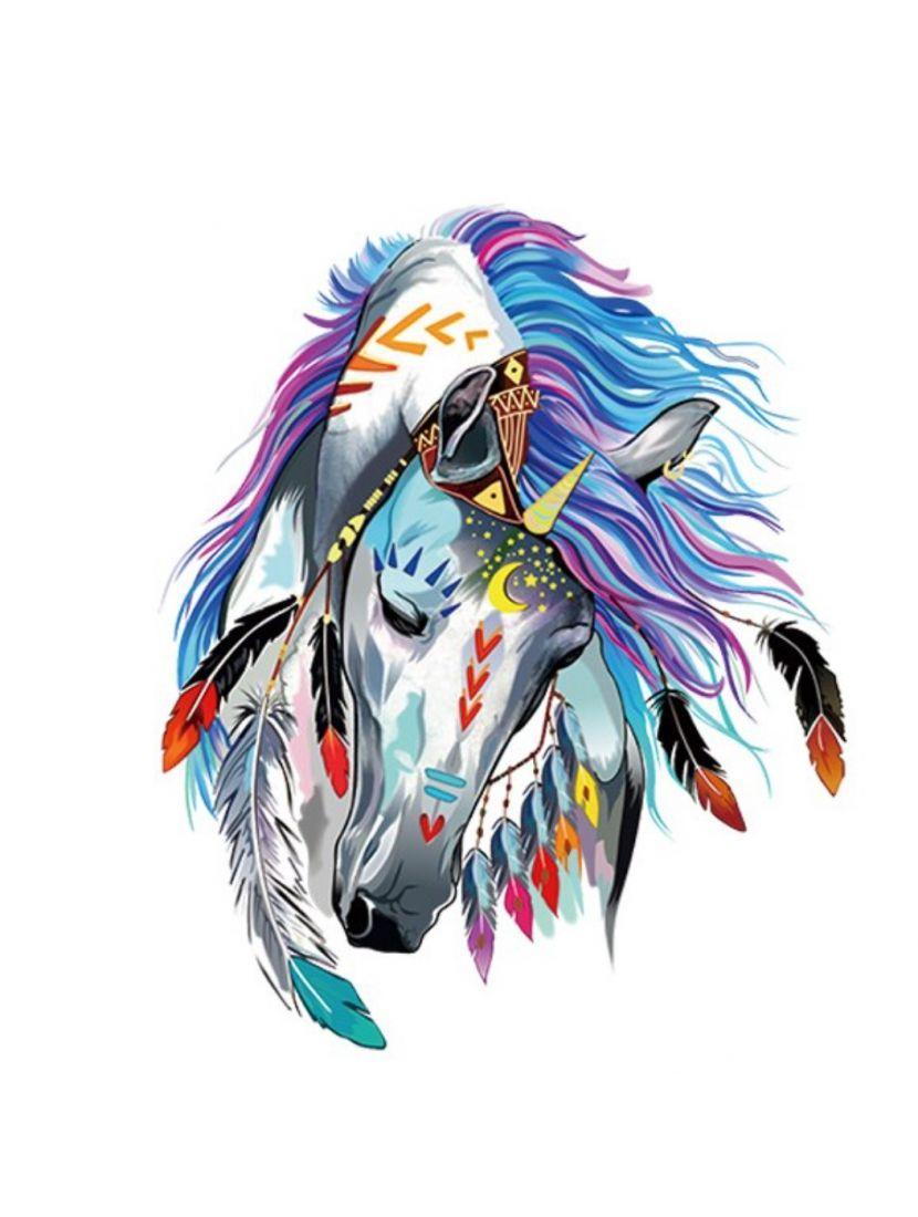 Картина по номерам  на подрамнике «Индейский конь»