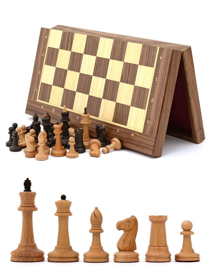 Шахматы «Стаунтон» орех 45 см складные