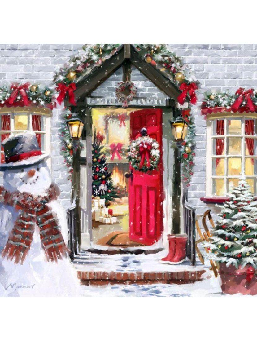Картина по номерам  на подрамнике «Праздник приходит»
