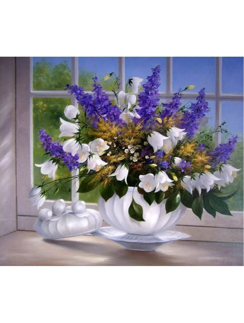 Картина по номерам  на подрамнике «Запах весны»