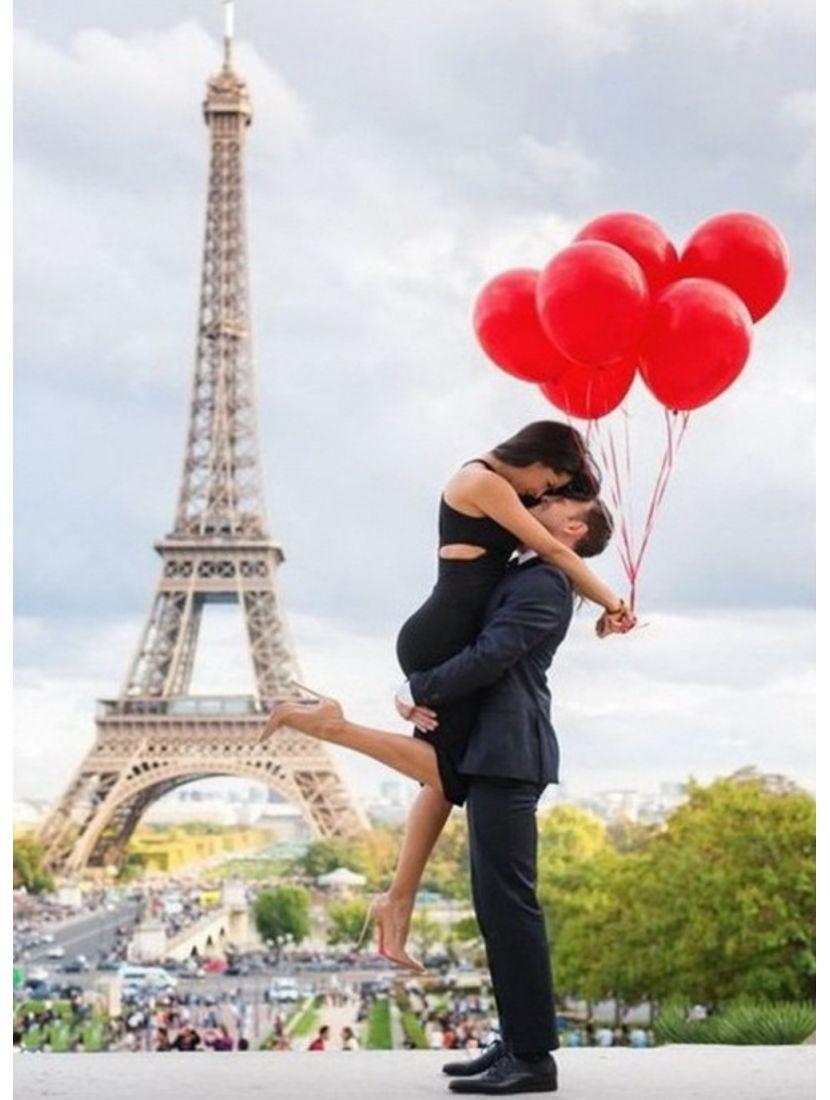 Картина по номерам  на подрамнике «Свидание в Париже»