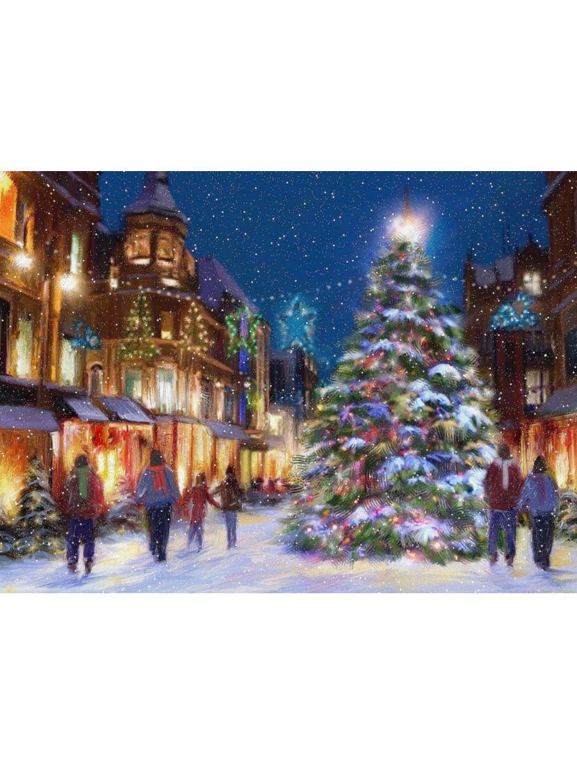 Картина по номерам  на подрамнике «Ночь перед рождеством»