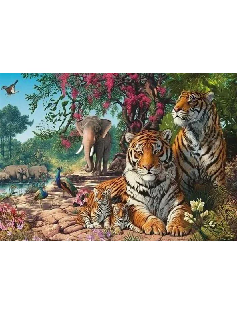 Алмазная мозаика на подрамнике «Сила, ум и красота»