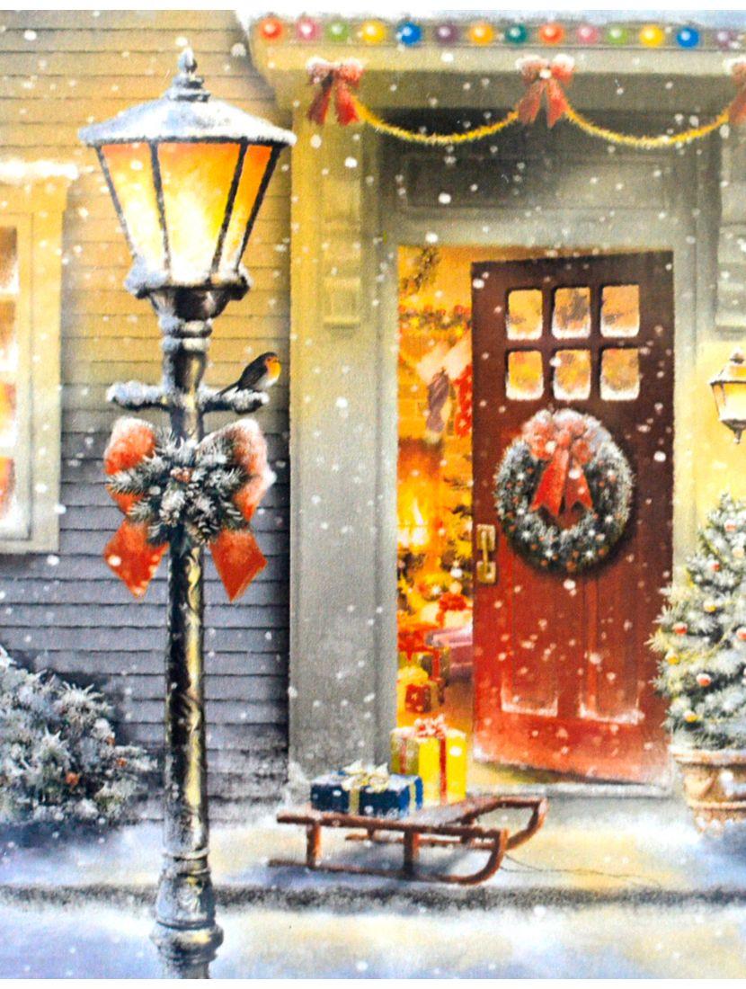 Картина по номерам  на подрамнике «Рождественский фонарь»