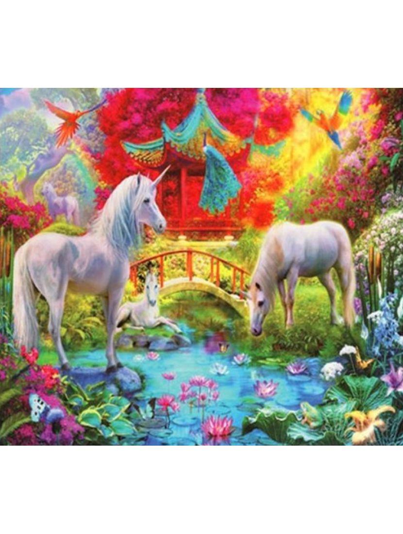 Картина по номерам  на подрамнике «Страна легенд»