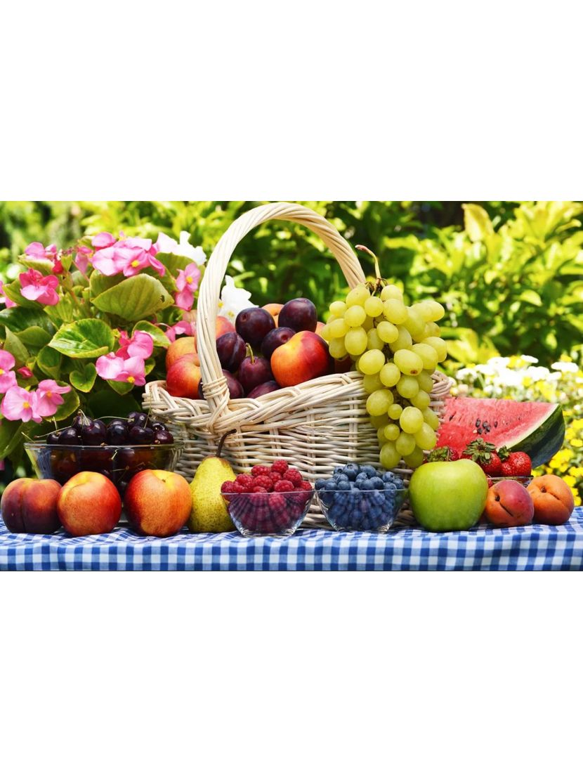 Картина по номерам  на подрамнике «Фруктовый урожай»