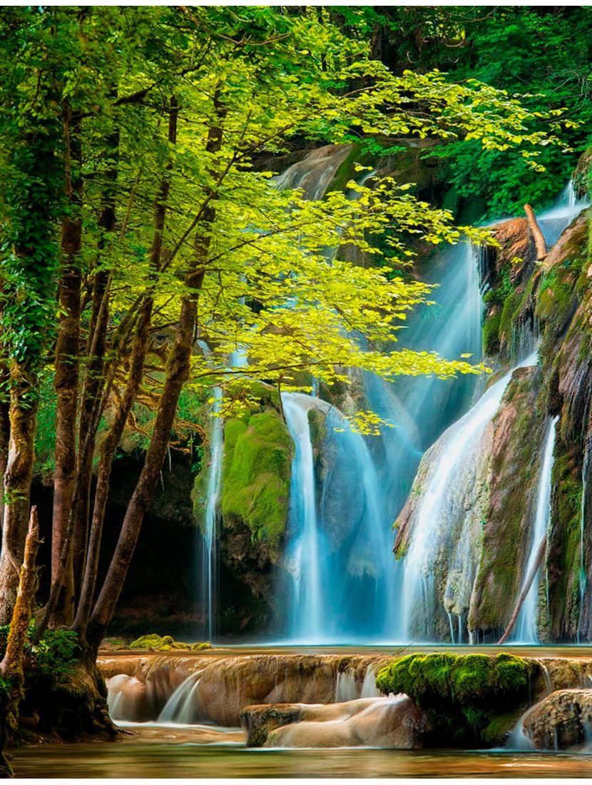 Картина по номерам  на подрамнике «Лесной водопад»