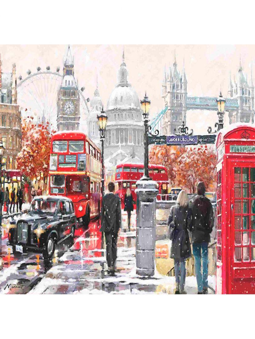 Картина по номерам  на подрамнике «Прогулка по Лондону»