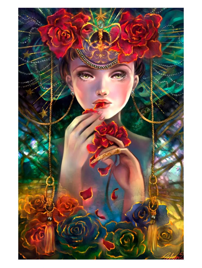 Алмазная мозаика на подрамнике «Принцесса карнавала»