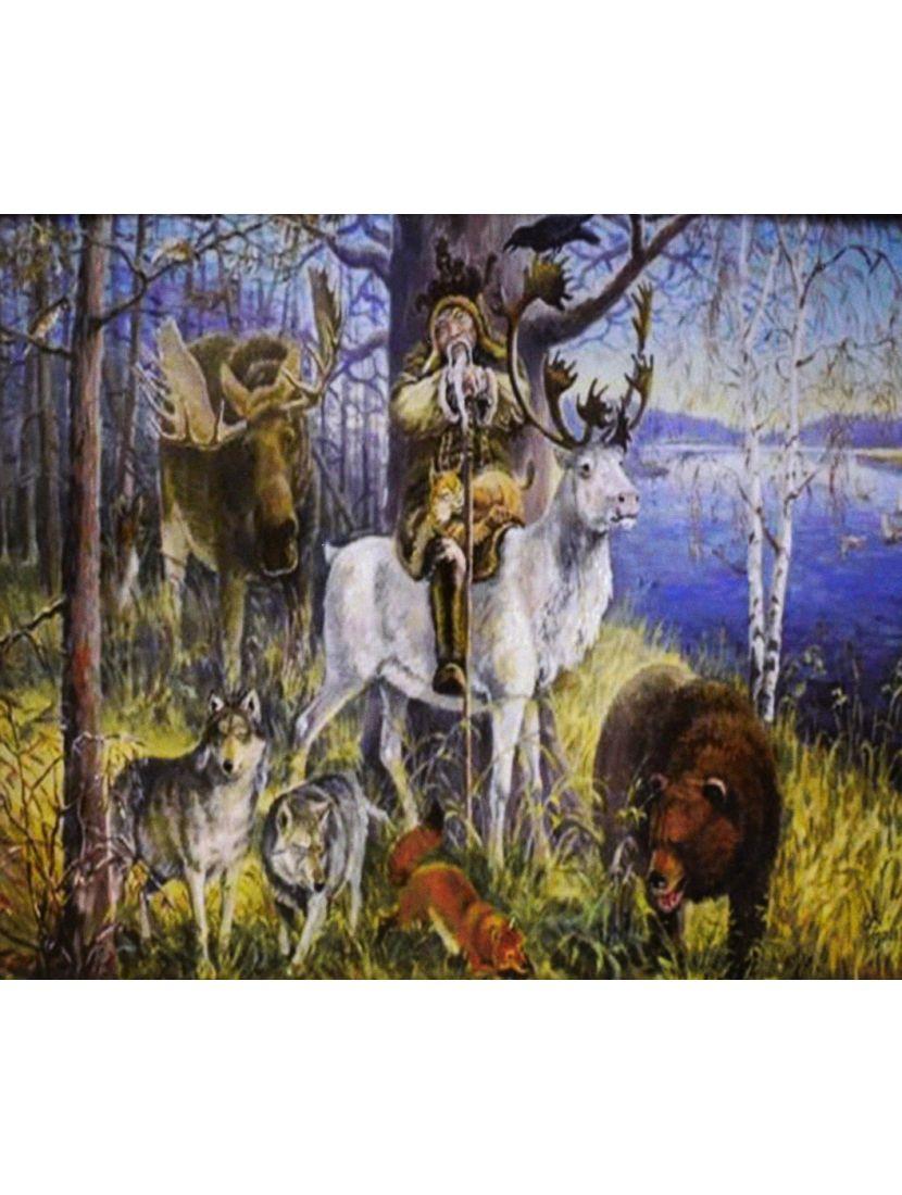 Алмазная мозаика на подрамнике «Лесной царь»