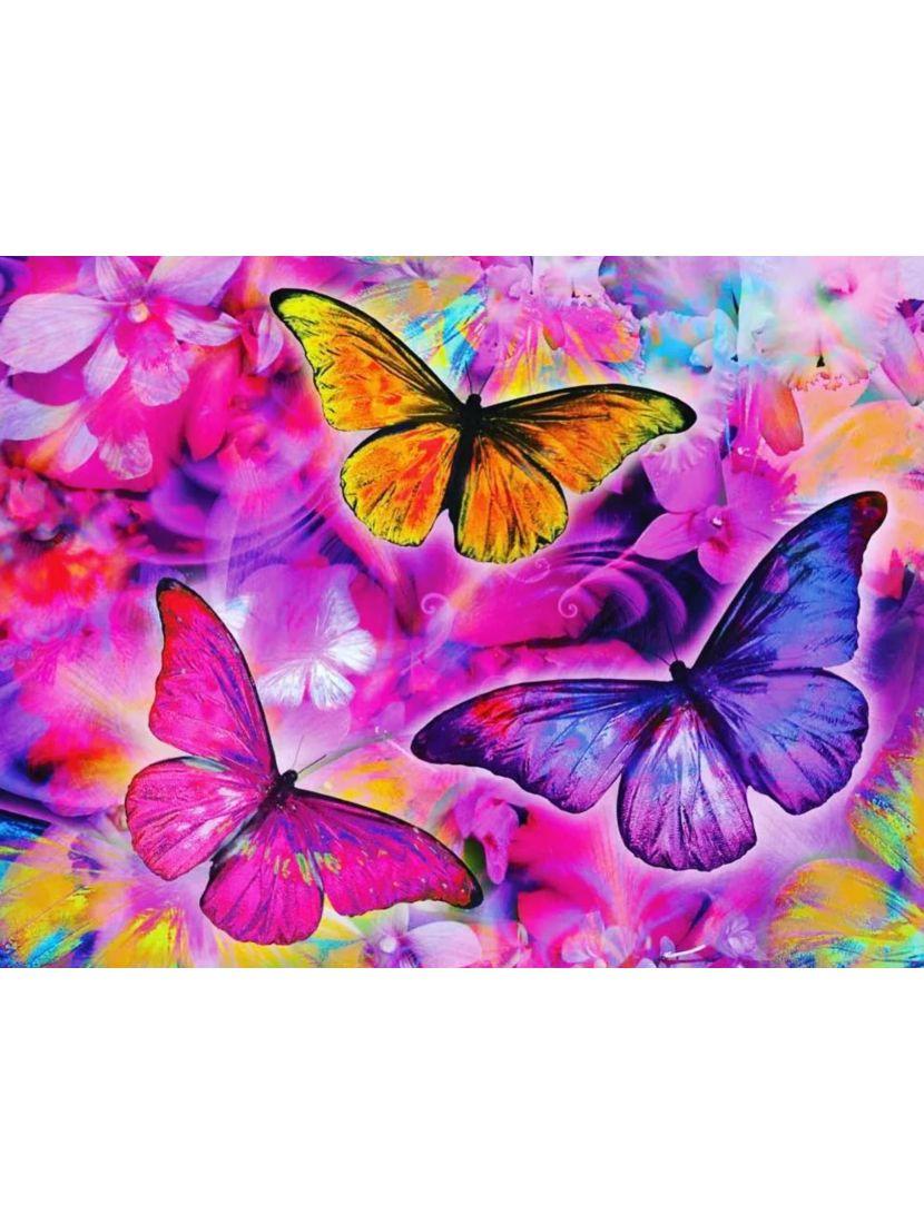 Алмазная мозаика на подрамнике «Бабочки»