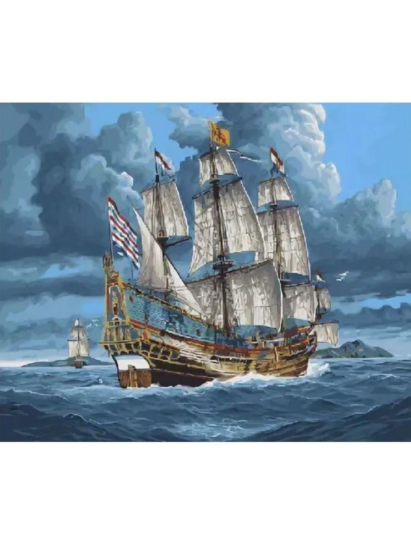 Алмазная мозаика на подрамнике «К неведомым берегам»