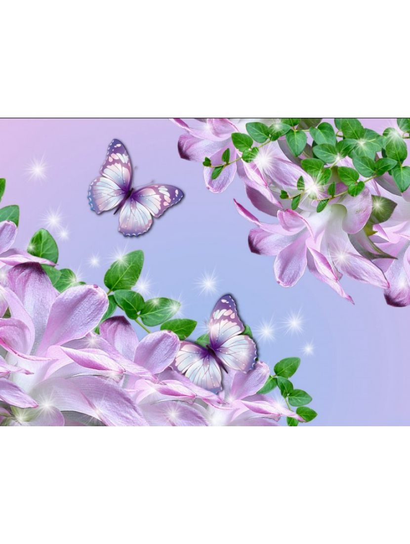 Алмазная мозаика «Сиреневый мир»