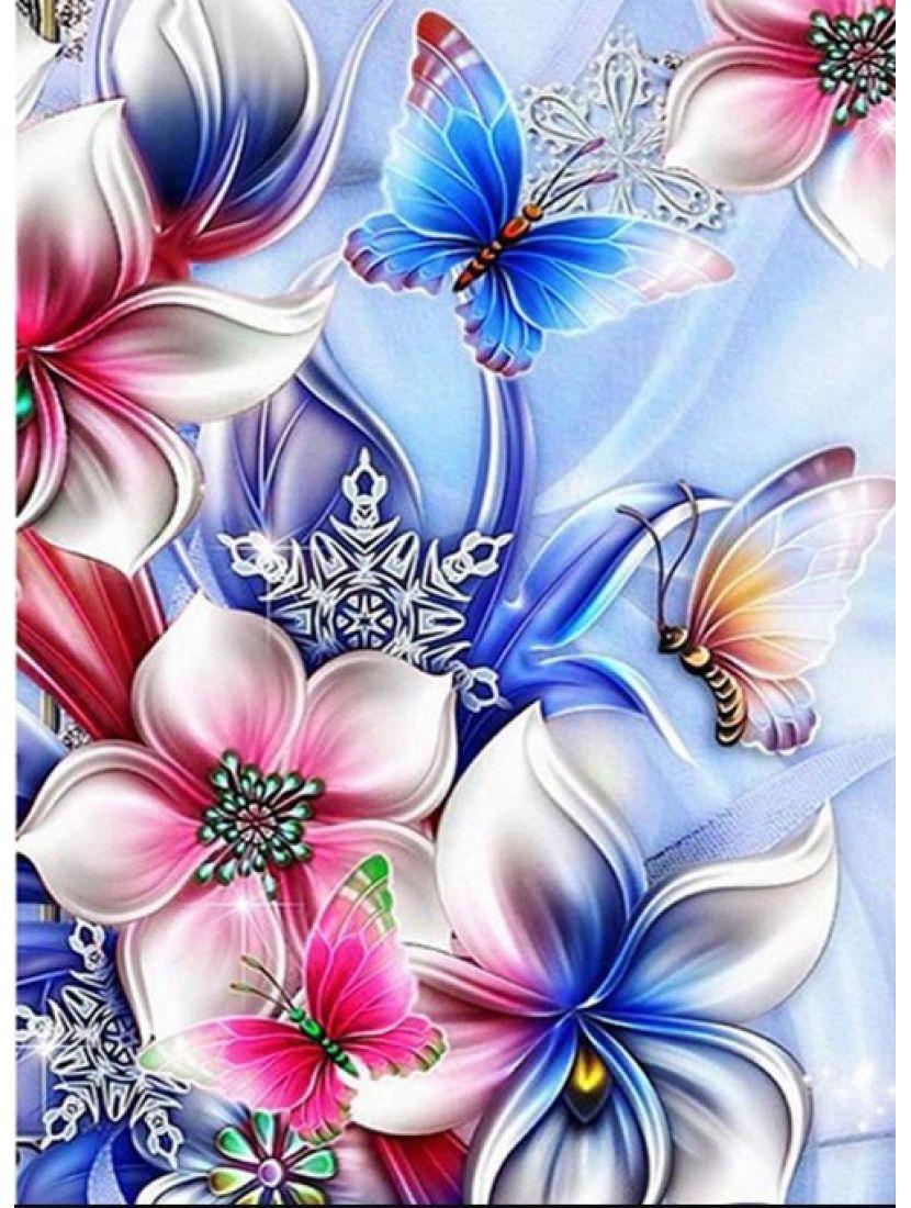 Алмазная мозаика «Фарфоровые цветы»
