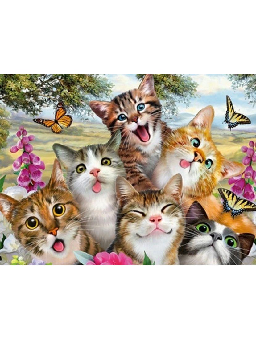 Алмазная мозаика «Кошачья компания»