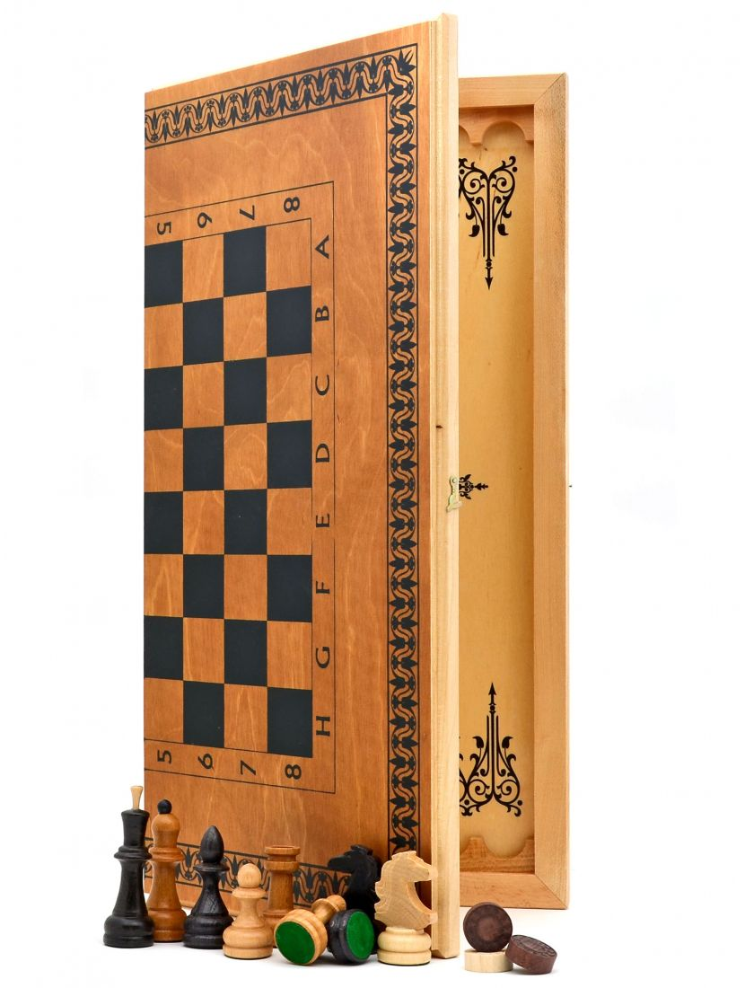 Шахматы + нарды + шашки «Тульские» 3 в 1