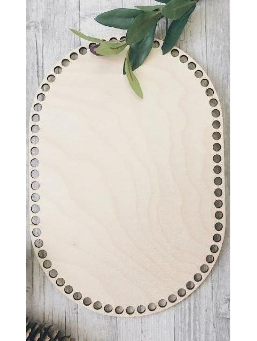 Донышко для вязания «Прямоугольник с закруглением» деревянное, 30*20 см