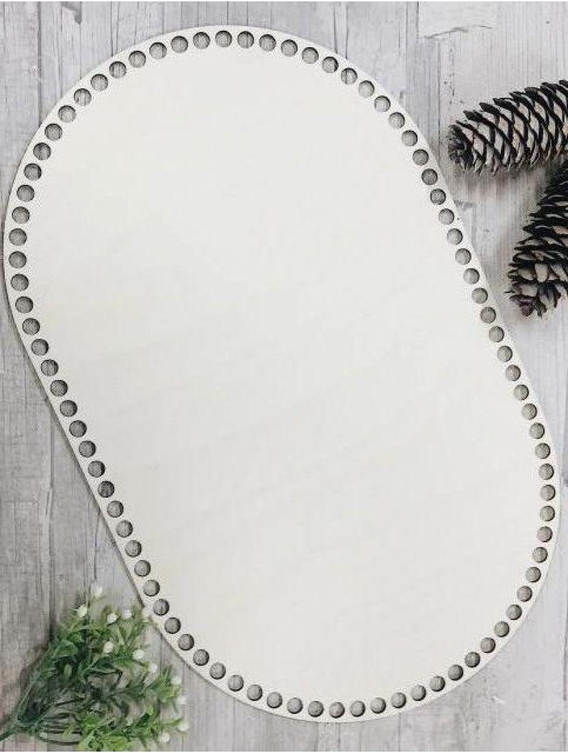 Донышко для вязания «Прямоугольник с закруглением» деревянное, 40*25 см