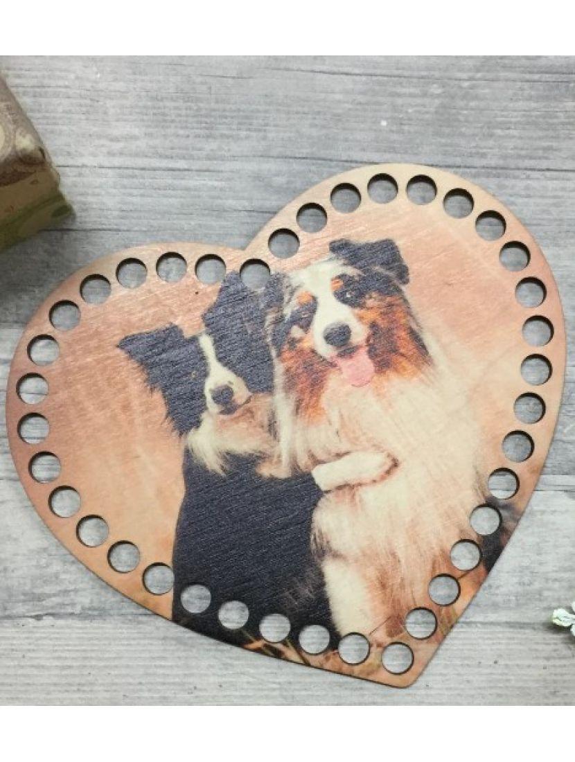 Донышко для вязания деревянное «Махнатые друзья», 17*14 см