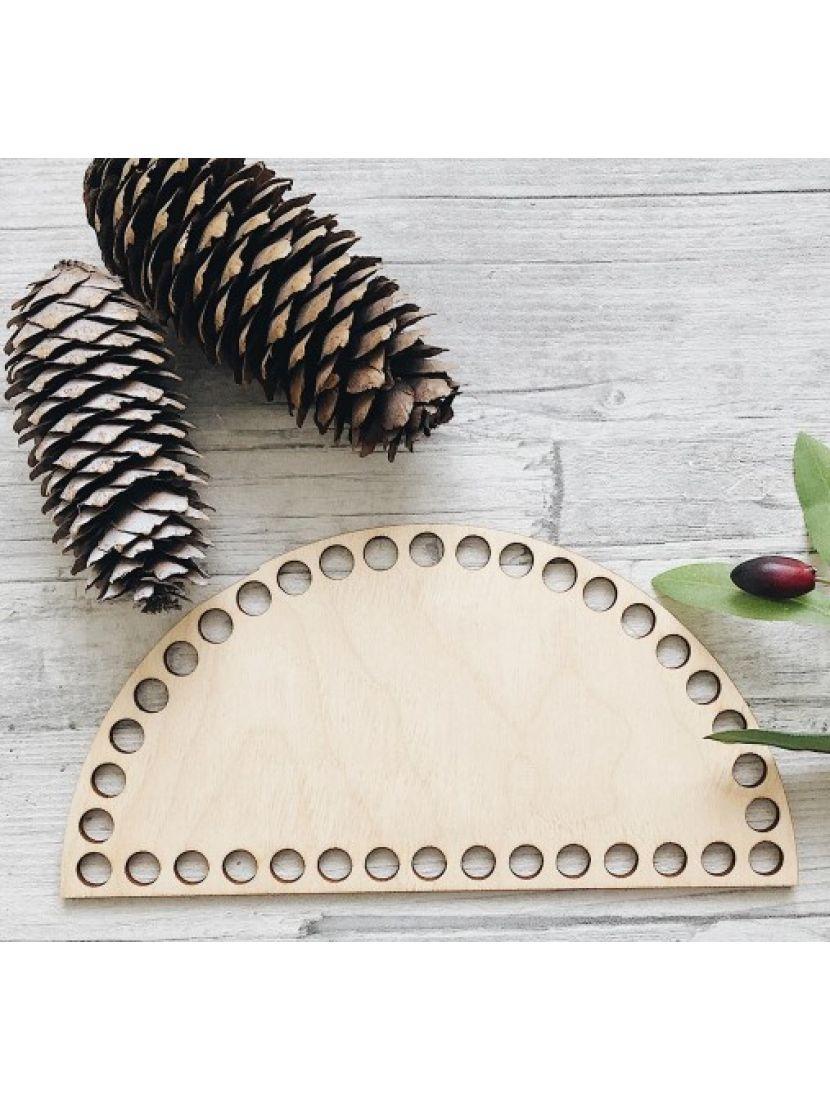 Донышко для вязания «Полукруг» деревянное, 20*10 см
