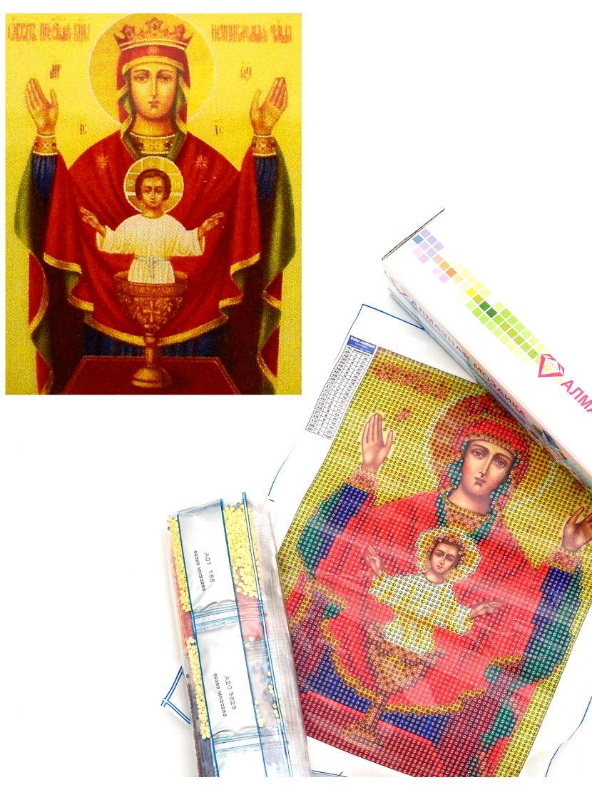 Алмазная мозаика «Божией Матери Неупиваемая Чаша» икона