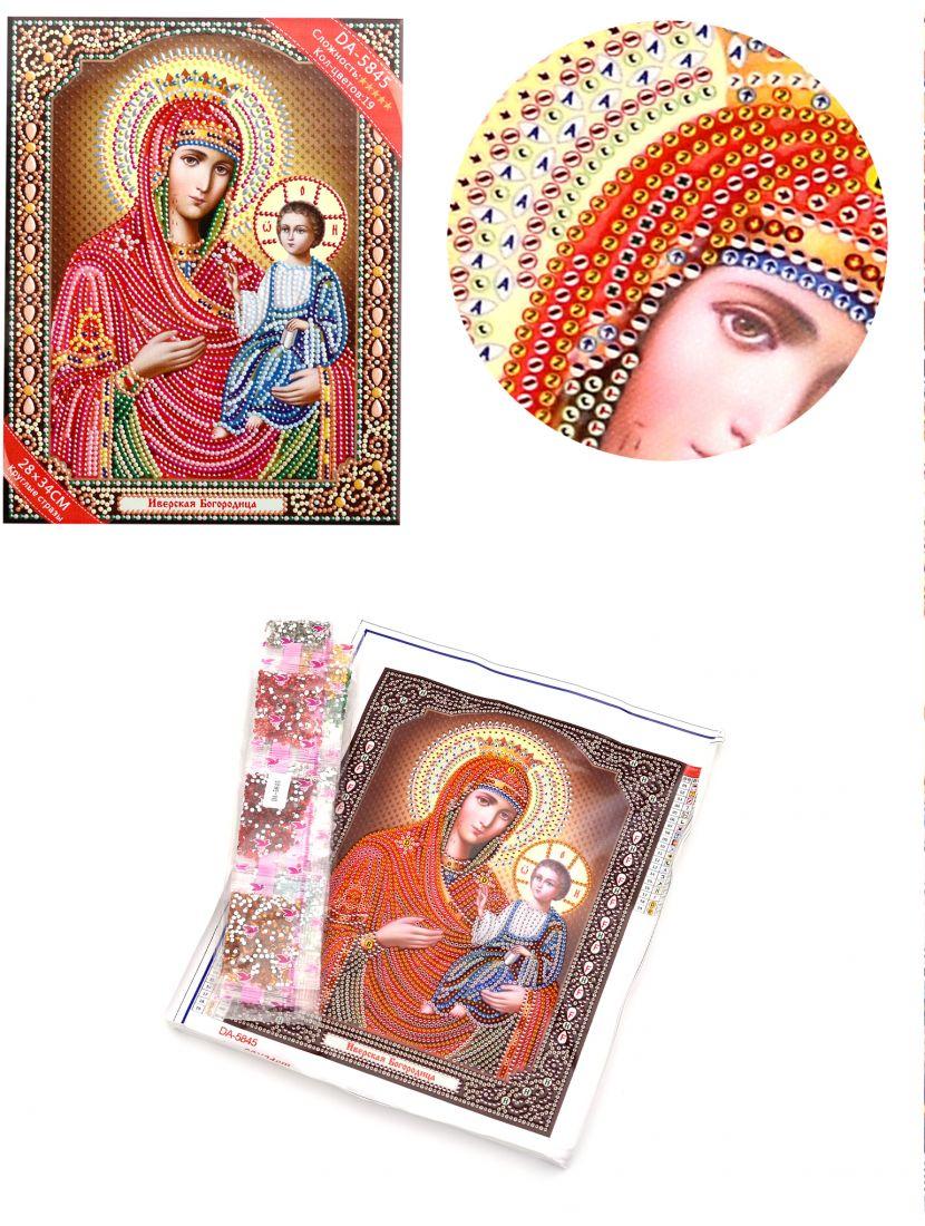 Алмазная мозаика с рамкой «Божией Матери Иверская» икона
