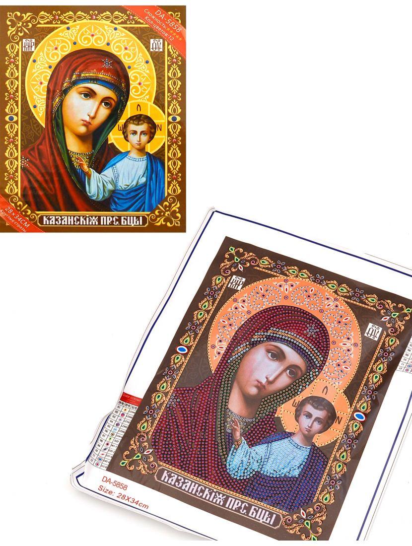 Алмазная мозаика в рамке «Божией Матери Казанская» икона подарочный вариант