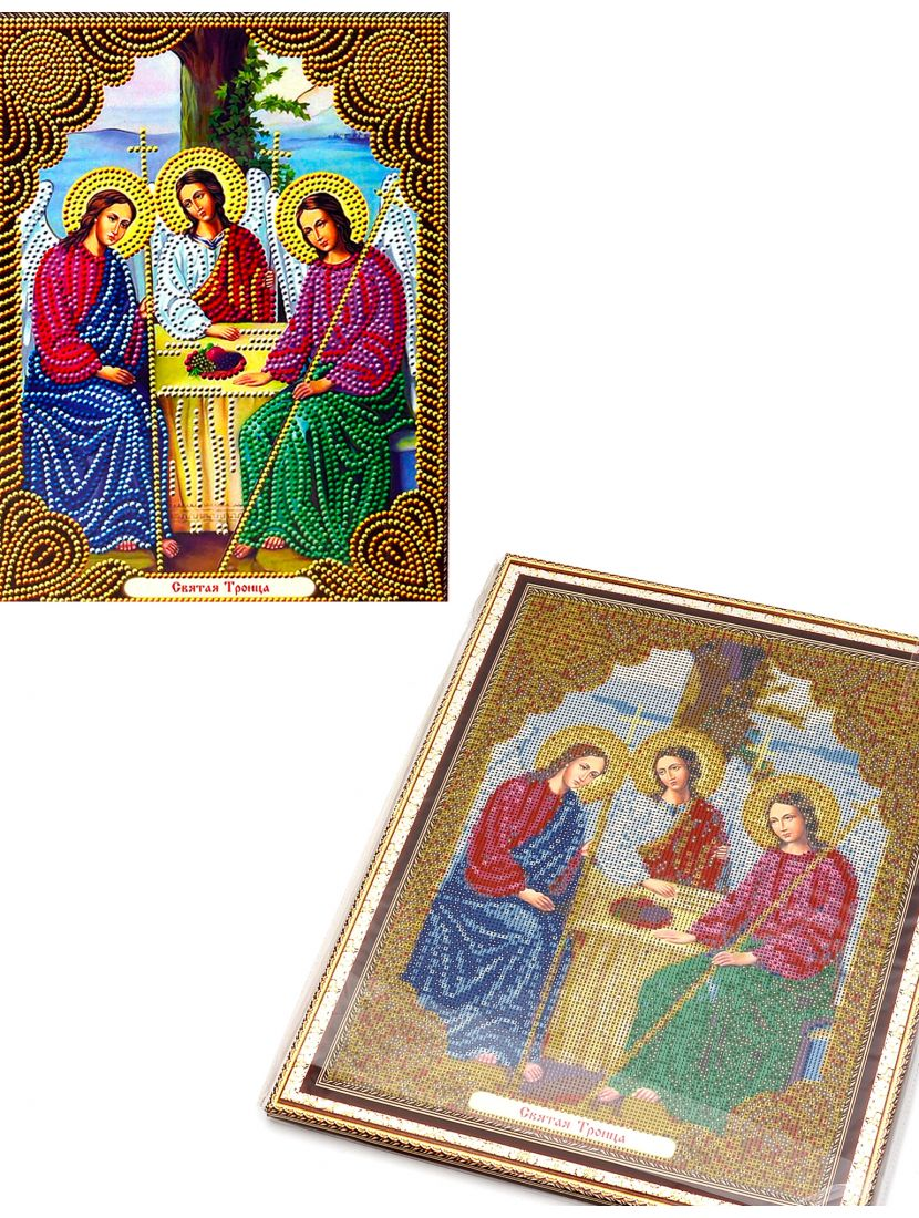 Алмазная мозаика на подрамнике «Святая Троица» икона