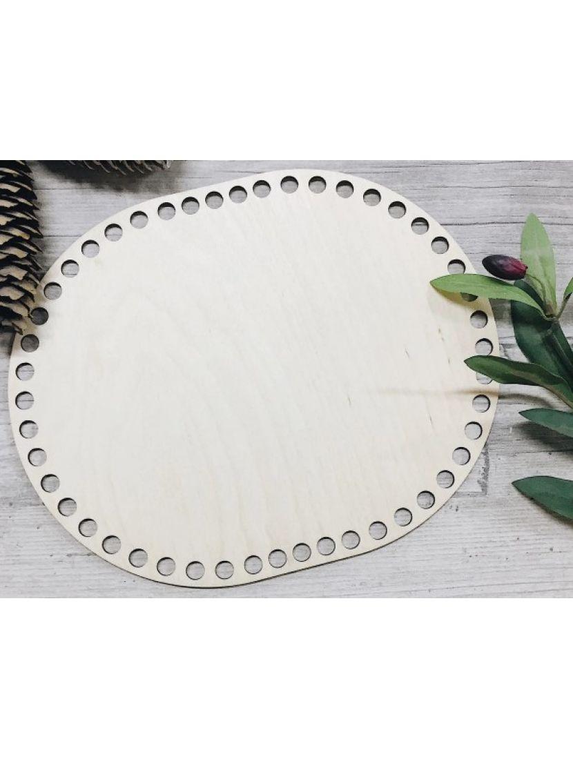 Донышко для вязания «Прямоугольник с закруглением» деревянное, 25*20 см
