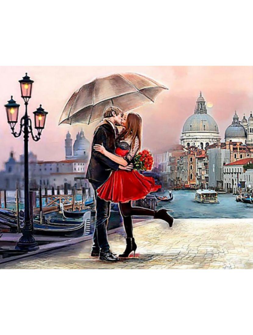 Алмазная мозаика «Город романтики»