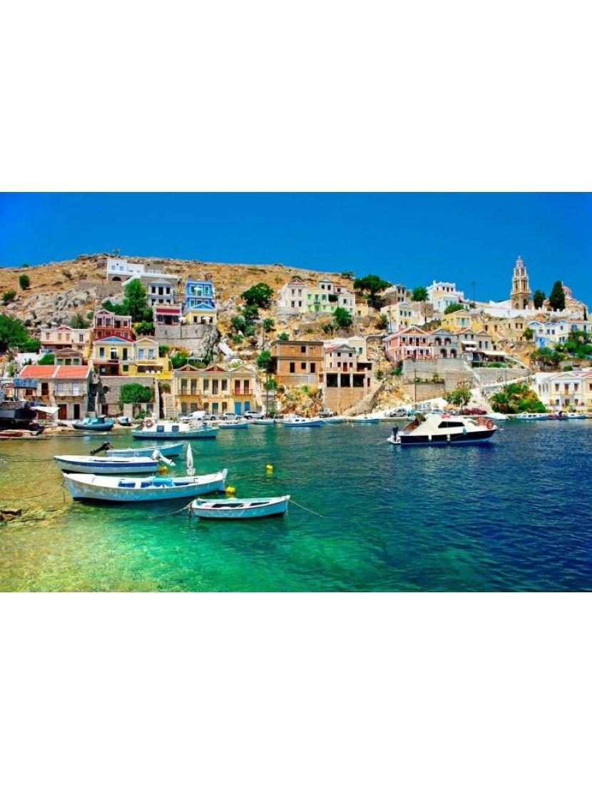 Алмазная мозаика «Вид на приморский город»