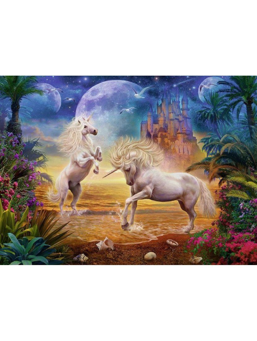 Алмазная мозаика «Игра единорогов»