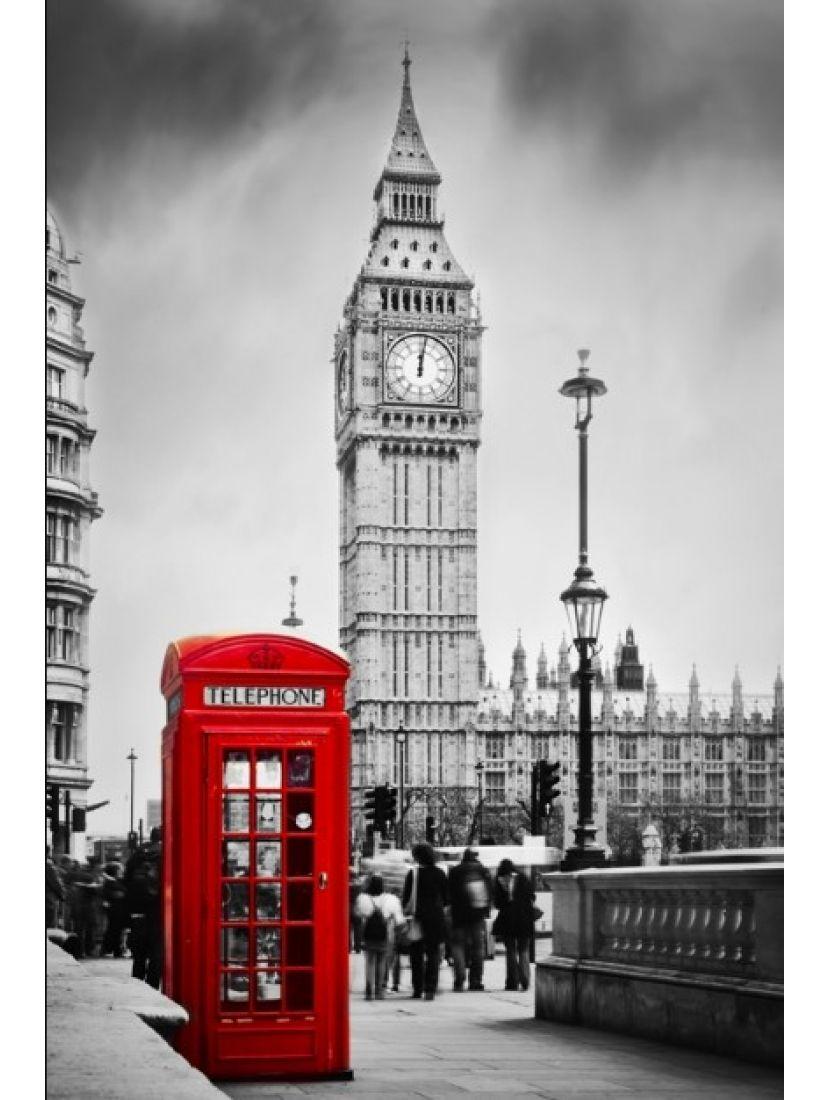 Алмазная мозаика «Красная телефонная будка»