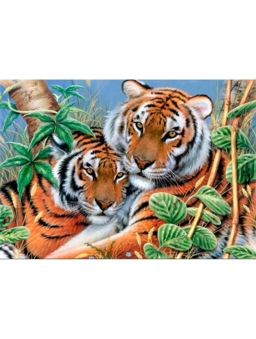 Алмазная мозаика «Тигры»