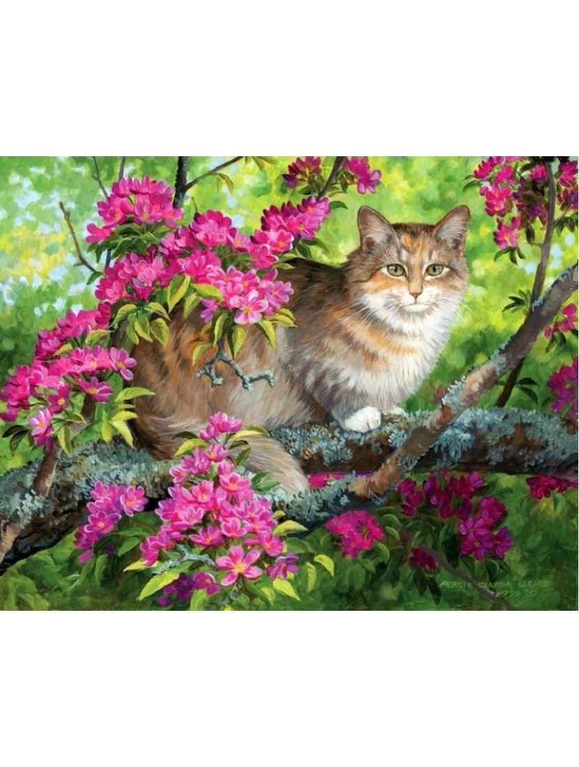 Алмазная мозаика «Садовый кот»