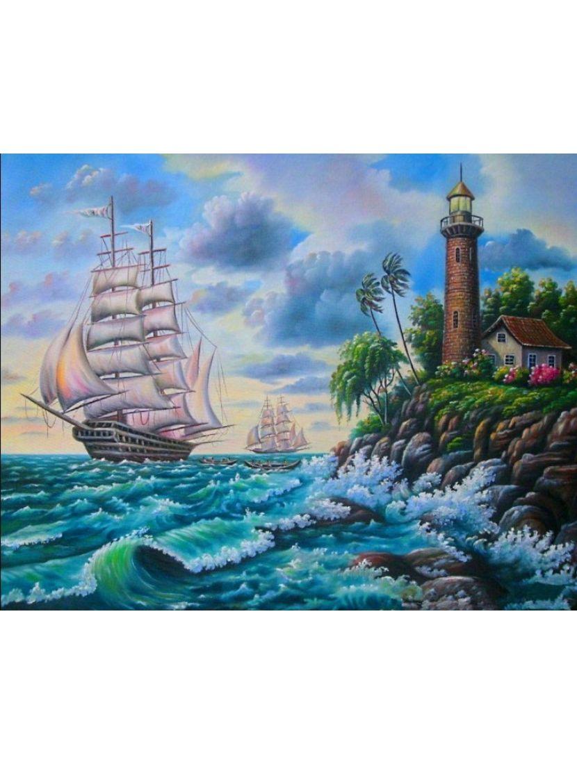 Алмазная мозаика «Хозяин морей»