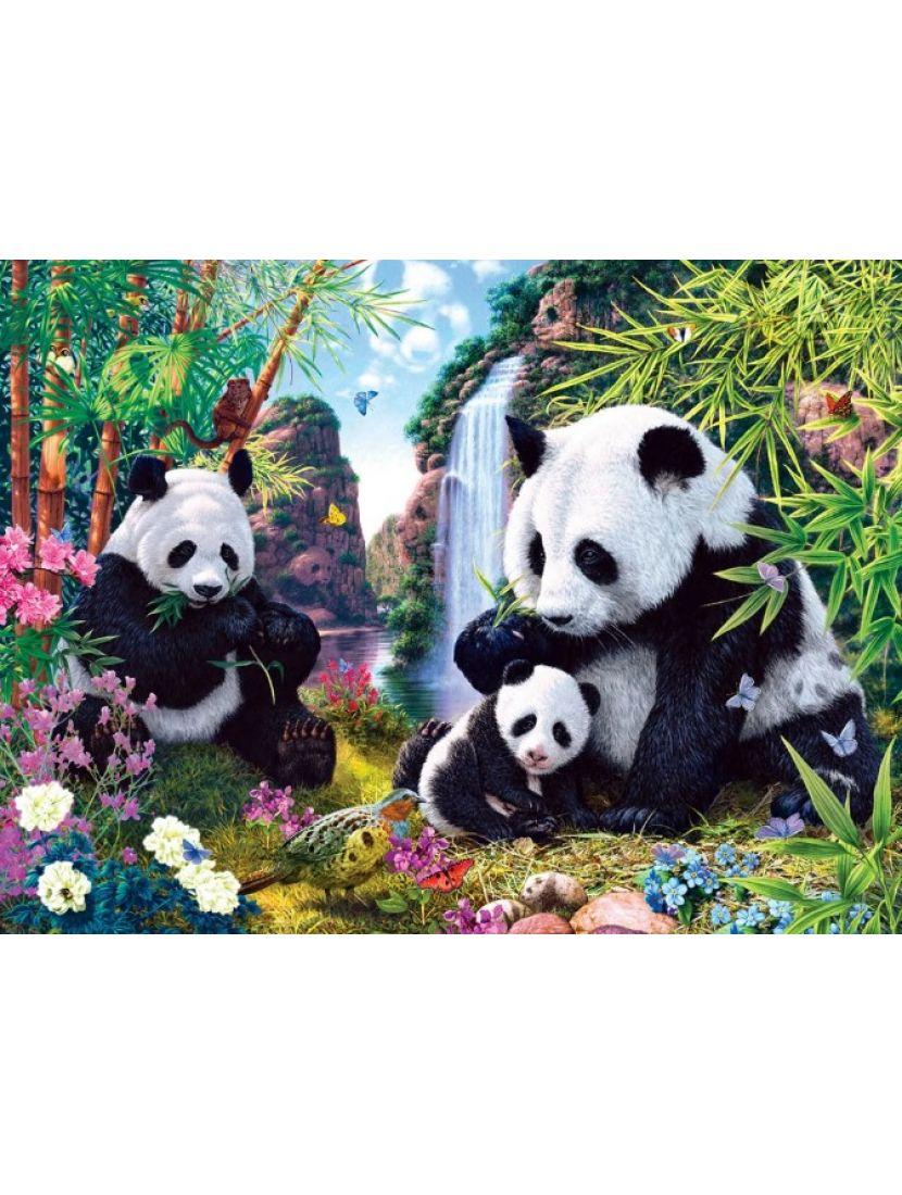 Алмазная мозаика «Панды»