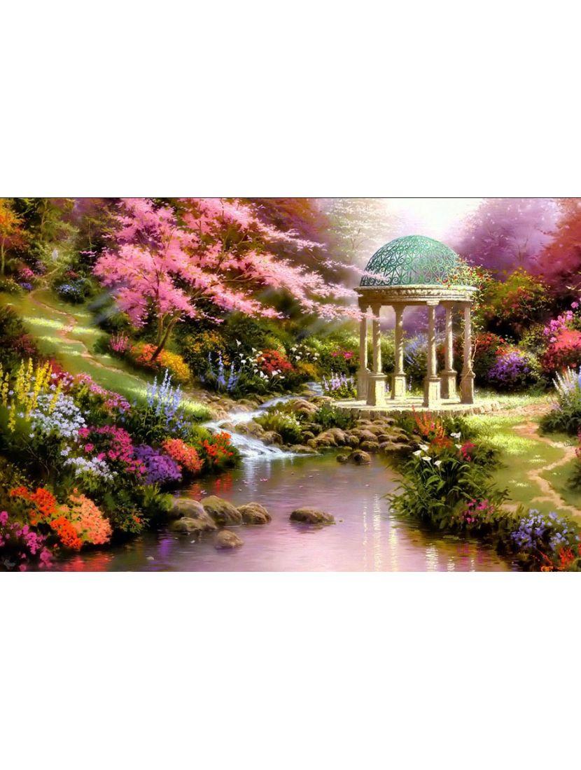 Алмазная мозаика «Беседка в волшебном саду»