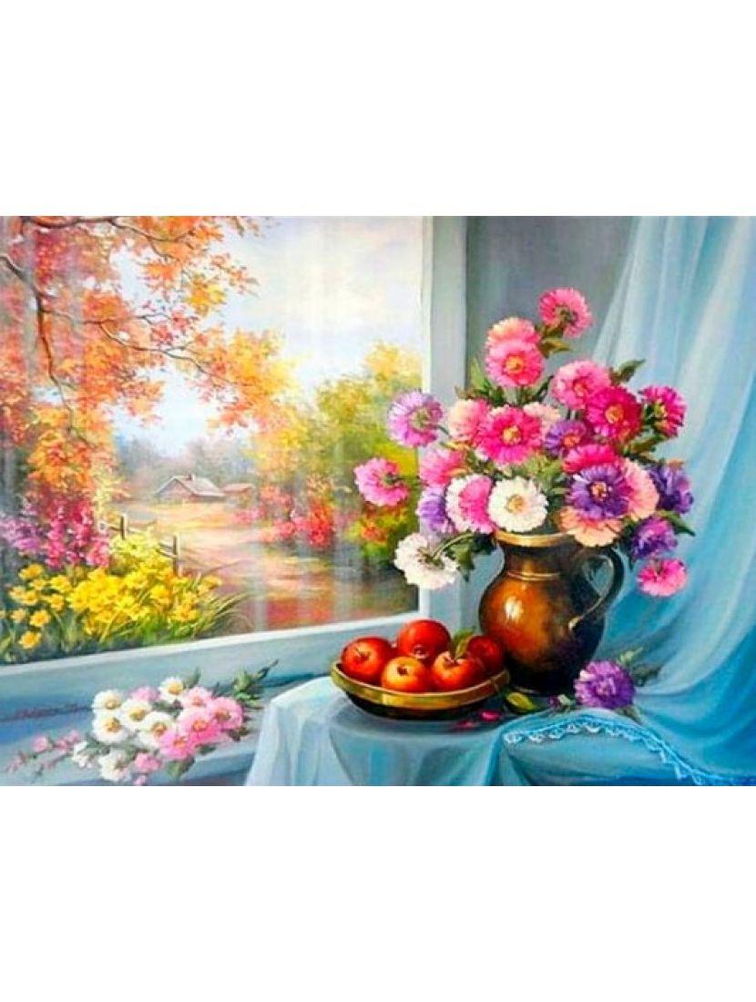 Алмазная мозаика «Осенние цветы»
