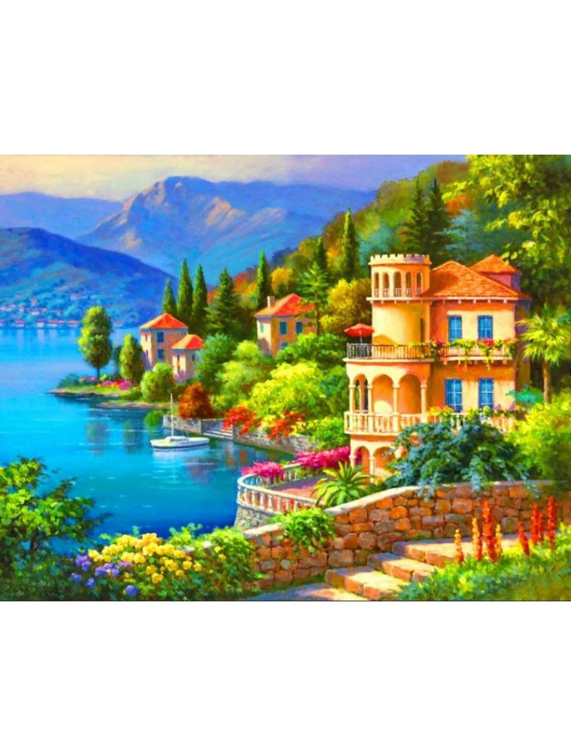 Алмазная мозаика «Средиземноморская вилла»