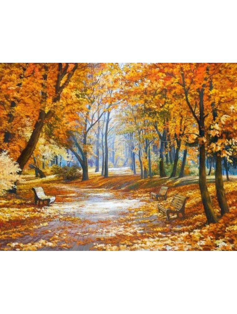 Алмазная мозаика «Осенняя аллея»