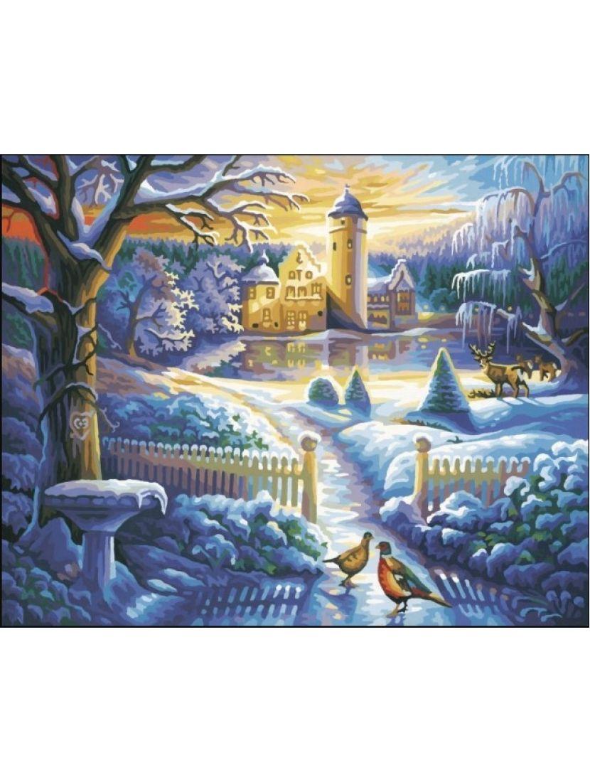 Алмазная мозаика «Зимняя дорожка»