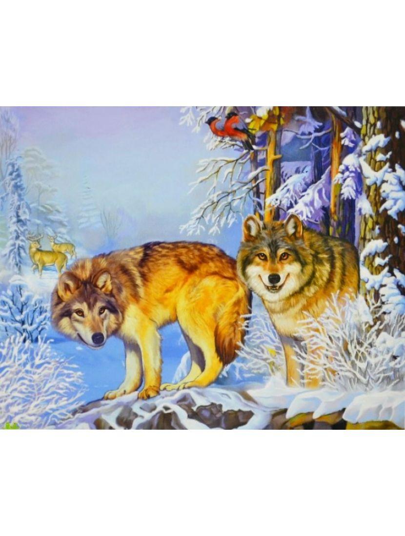 Алмазная мозаика «Лесные охотники»