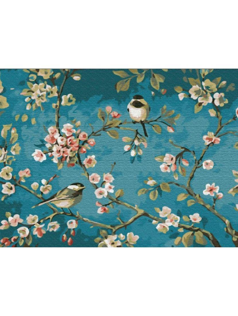 Алмазная мозаика «Пение в цветах вишни»