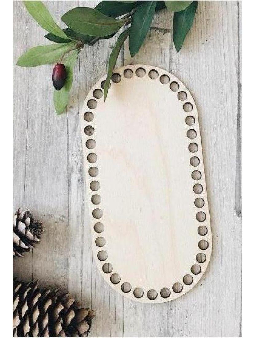 Донышко для вязания «Прямоугольник с закруглением» деревянное, 20*10 см