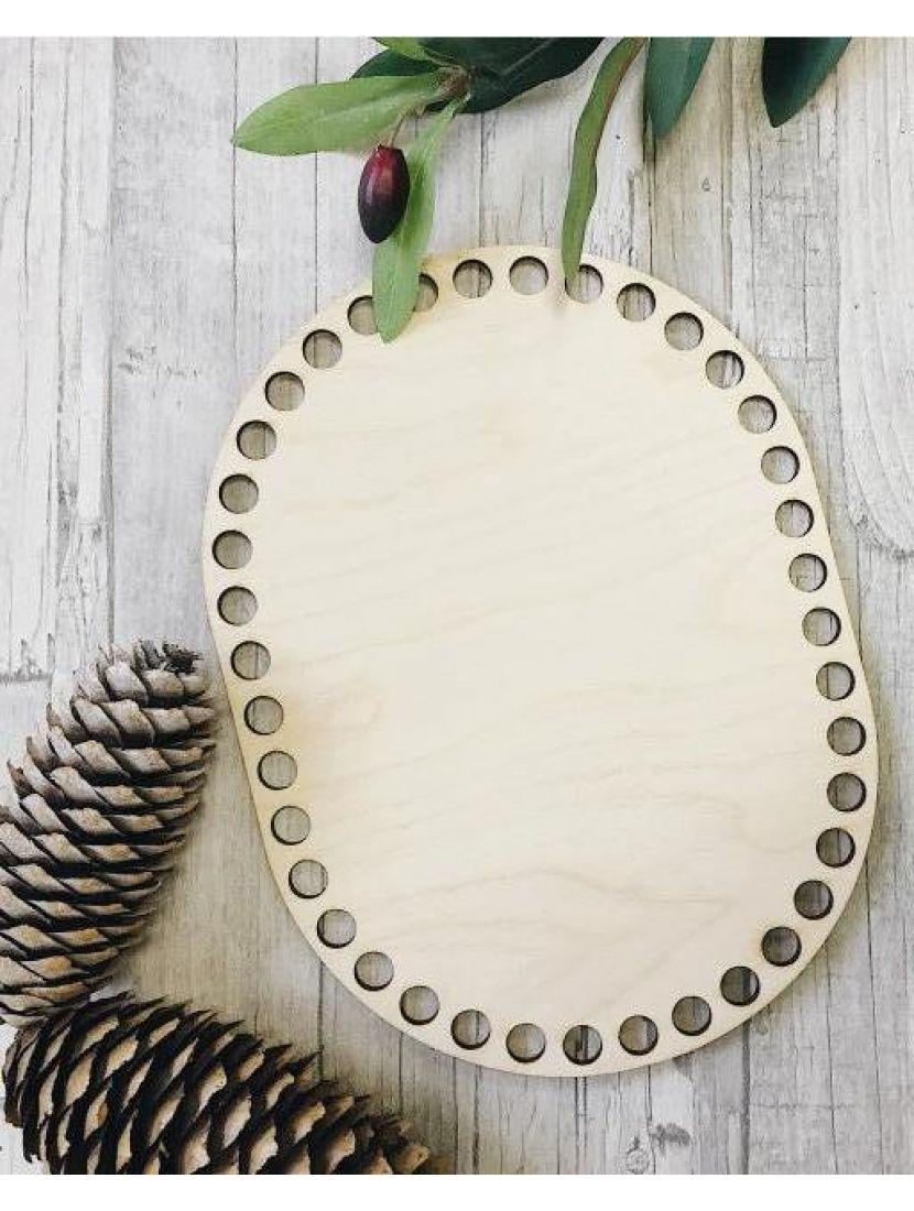 Донышко для вязания «Прямоугольник с закруглением» деревянное, 20*15 см