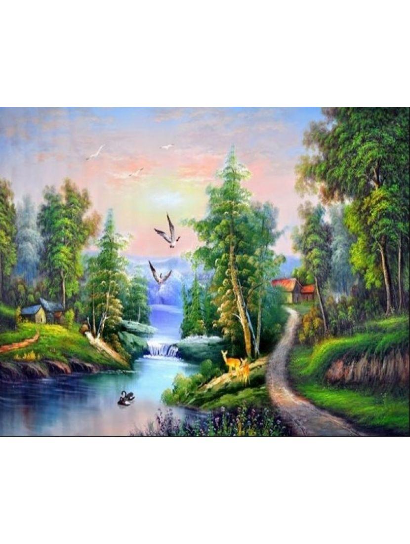 Алмазная мозаика «Жизнь в диких условиях»