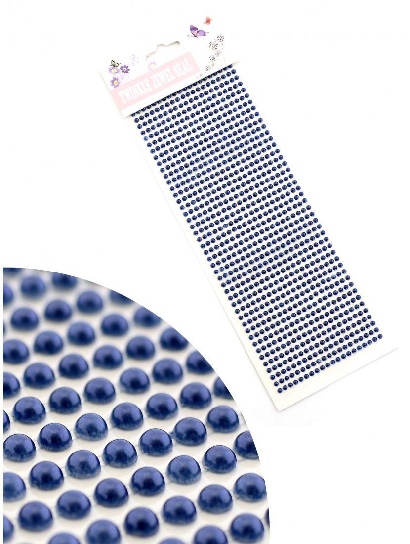 Стразы для рукоделия «Жемчужные полоски тёмно-синие» самоклеющиеся 3 мм.