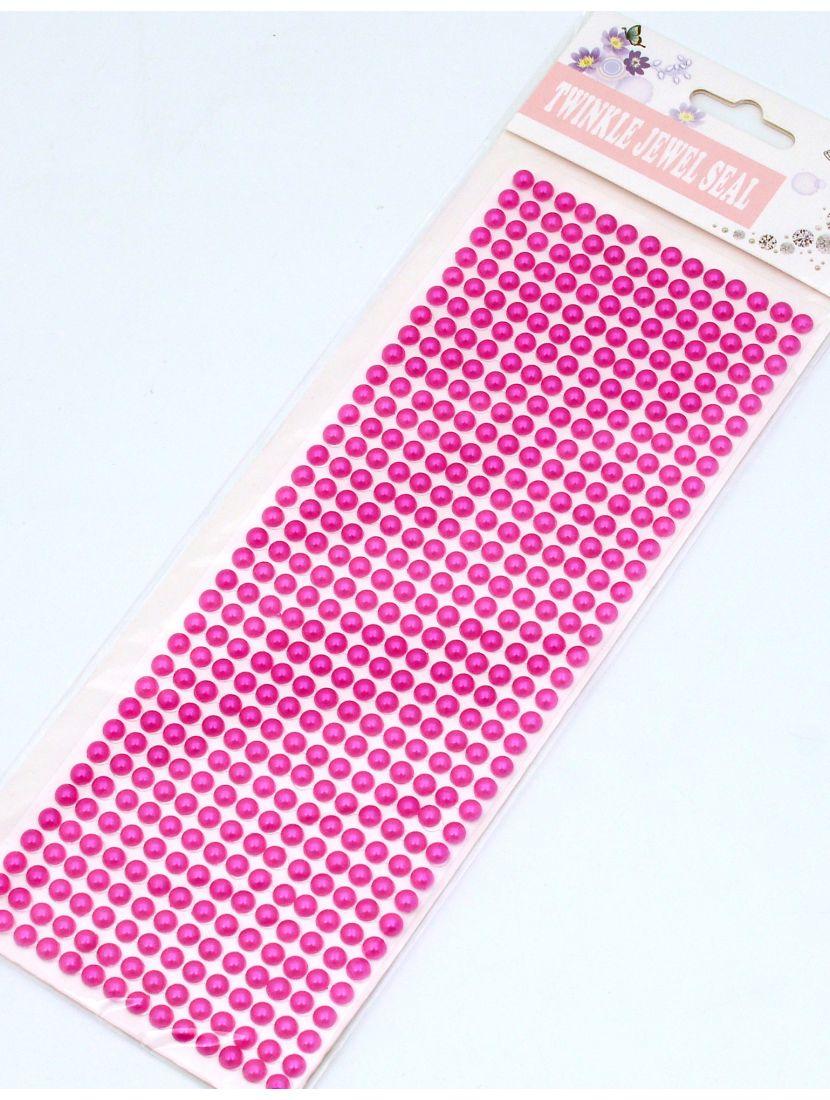 Стразы для рукоделия «Жемчужные полоски лиловые» самоклеющиеся 6 мм.