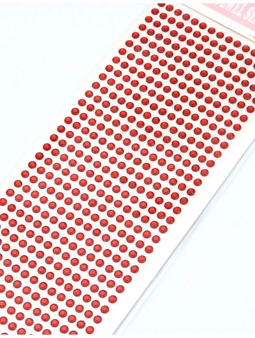 Стразы для рукоделия «Красные алмазы» самоклеющиеся 4 мм.